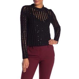 ALLSAINTS Alyse Sweater Sequin Black Medium
